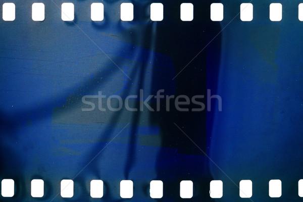 Vecchio grunge filmstrip rumoroso blu film strip Foto d'archivio © Taigi