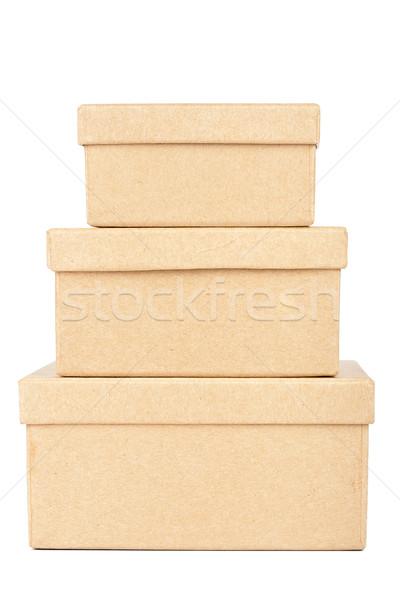 Cardboard box tower Stock photo © Taigi