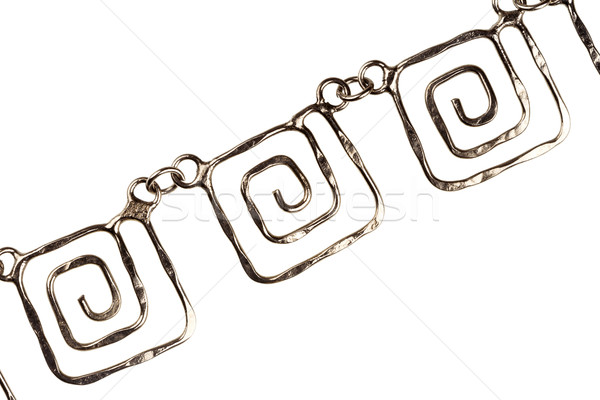 Silver plated chain detail  Stock photo © Taigi