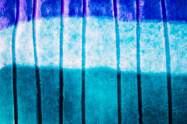 Stockfoto: Shot · keramiek · textuur · Blauw · muur