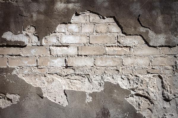 öreg szürke tégla tapasz fal textúra Stock fotó © Taigi