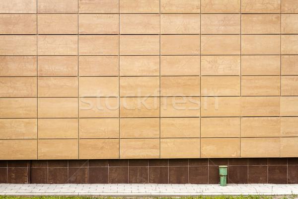 Modern beige metal tiles wall Stock photo © Taigi