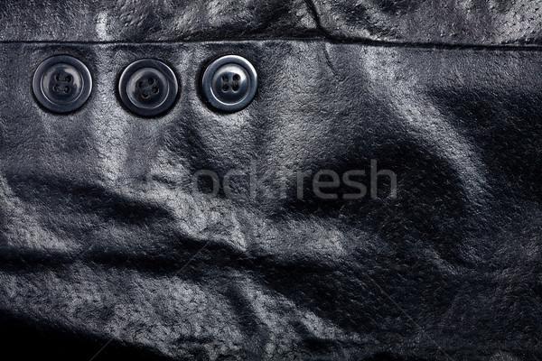 Fragment zwarte textuur mode achtergrond Stockfoto © Taigi