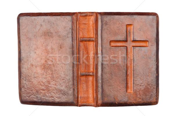 Starych Biblii święty odizolowany biały papieru Zdjęcia stock © Taigi