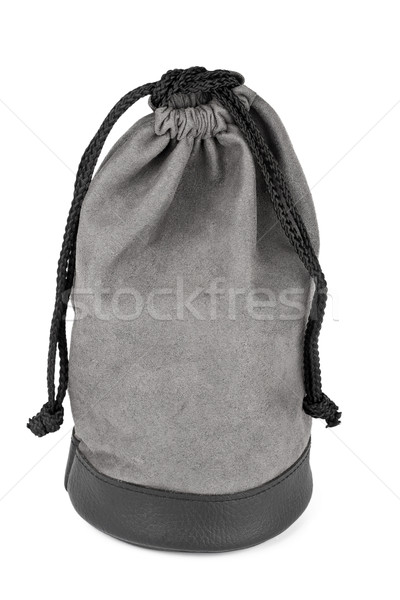 Gray suede pouch Stock photo © Taigi