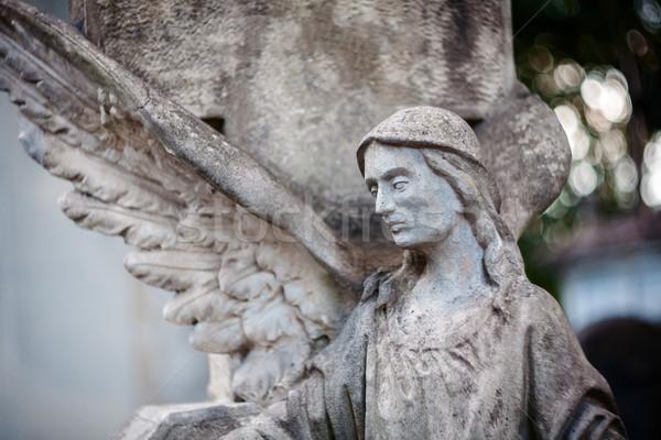 Statue ange vieux concrètes cimetière Vilnius Photo stock © Taigi