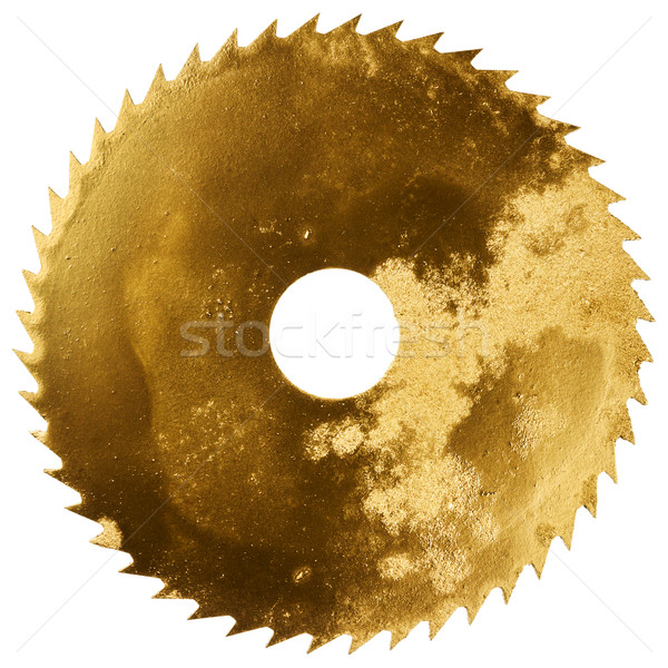 Golden circular saw blade  Stock photo © Taigi