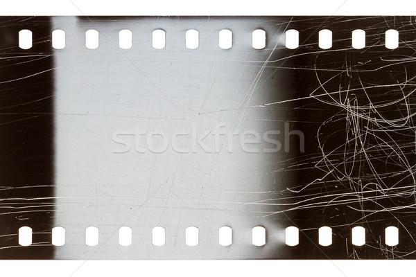 Eski grunge filmstrip gürültülü gri yalıtılmış Stok fotoğraf © Taigi