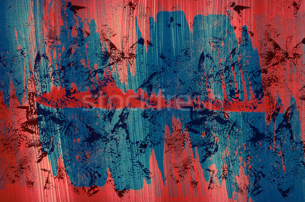 Acrílico artes utilizado elementos pintura azul Foto stock © Taigi