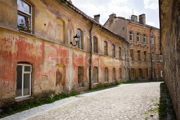 Utca óváros Vilnius Litvánia út épület Stock fotó © Taigi