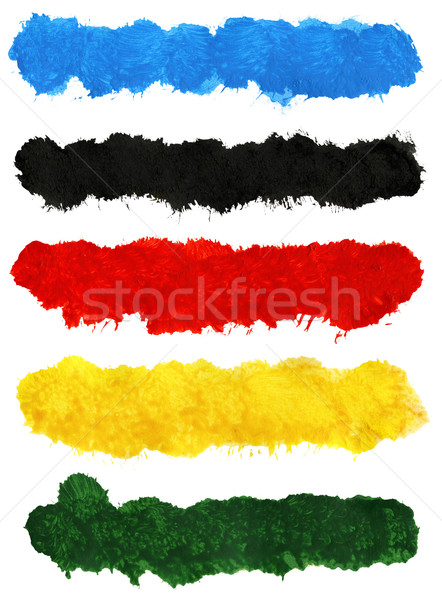 Colorful acrylic brush strokes Stock photo © Taigi