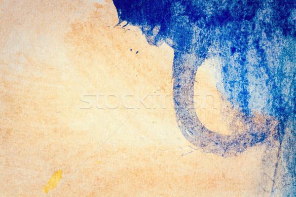 Resumen azul marrón artes macro tiro Foto stock © Taigi