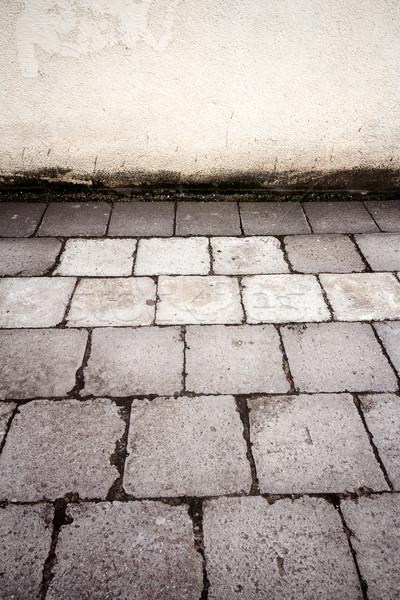 古い 具体的な タイル 舗装 壁 ストックフォト © Taigi