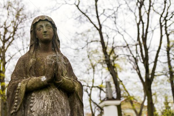 Standbeeld maagd begraafplaats Vilnius Litouwen voorjaar Stockfoto © Taigi