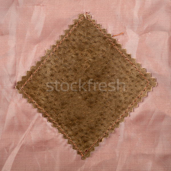 Empty old suede label Stock photo © Taigi
