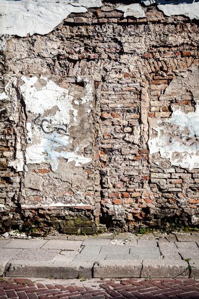 öreg utca fal oldal séta fa Stock fotó © Taigi
