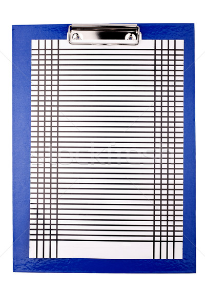 Blue clipboard with paper stencil Stock photo © Taigi