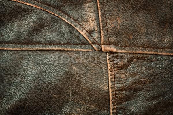 Seams on leather product Stock photo © Taigi