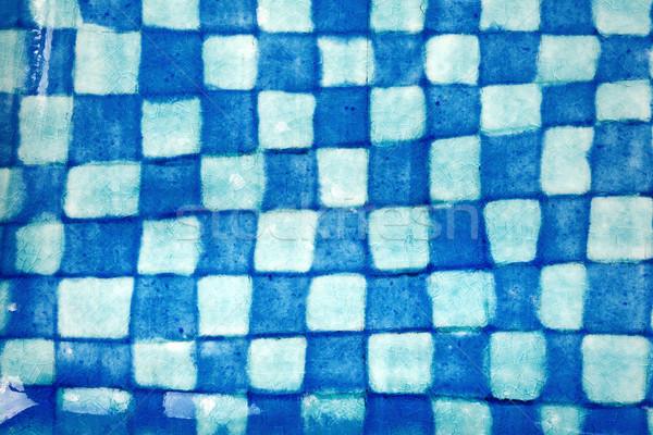 Coup argile poterie bleu fond Photo stock © Taigi