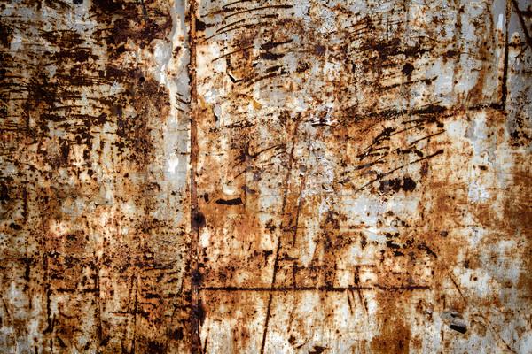 Eski metal doku paslı duvar dizayn Metal Stok fotoğraf © Taigi