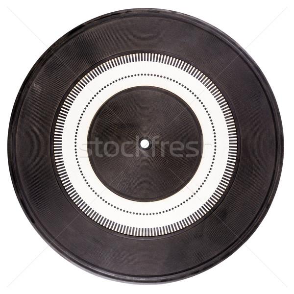 Vintage rubber turntable platter mat Stock photo © Taigi
