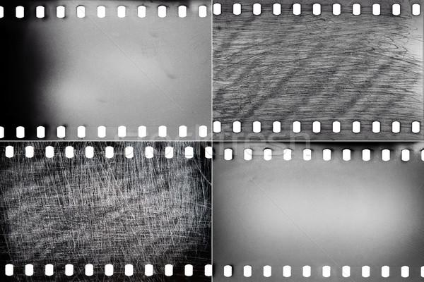 Szett film textúrák feketefehér gabona por Stock fotó © Taigi