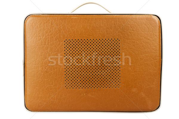Side view of vintage suitcase turntable Stock photo © Taigi