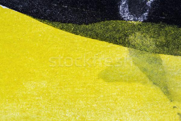 аннотация искусств стороны окрашенный черный желтый Сток-фото © Taigi