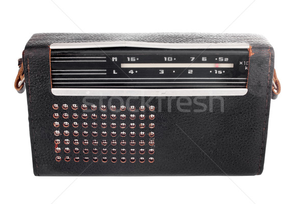 Portable old soviet radio in leather case Stock photo © Taigi