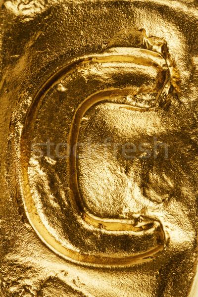 Golden letter C Stock photo © Taigi