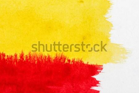 аннотация искусств рисованной красный желтый акварель Сток-фото © Taigi