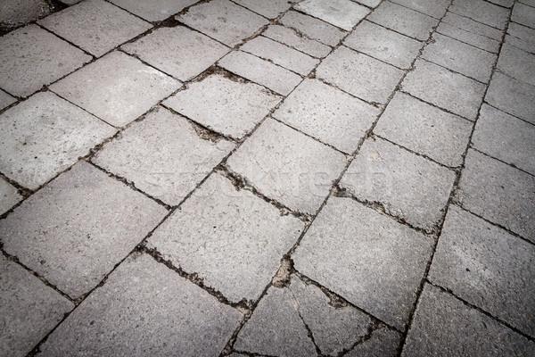 Konkretnych tekstury starych płytek streszczenie architektury Zdjęcia stock © Taigi