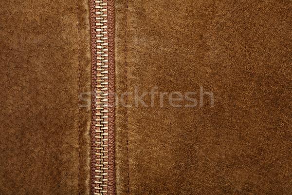 Cipzár barna textúra divat absztrakt háttér Stock fotó © Taigi