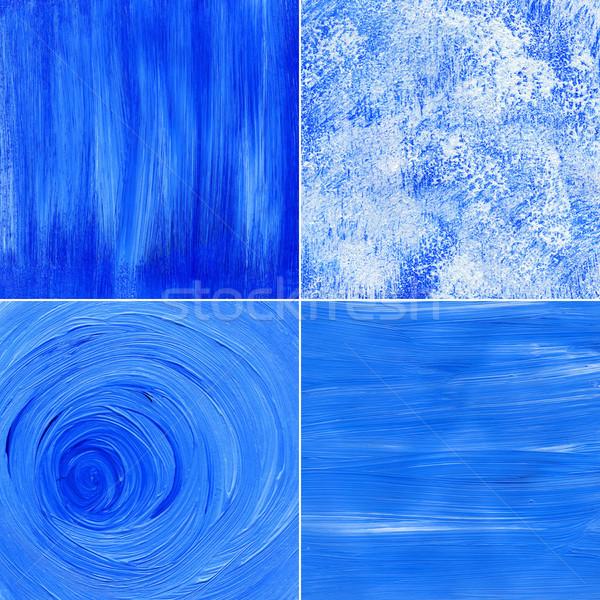 Main peint acrylique horizons papier Photo stock © Taigi