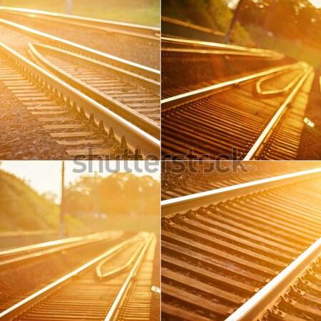 鉄道 トラック 日没 ストックフォト © Taigi