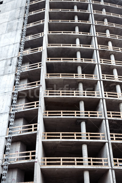 Closeup shot of unfinished apartment building wall Stock photo © Taigi