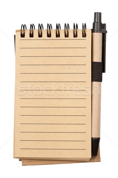 Spiral notebook and pen Stock photo © Taigi