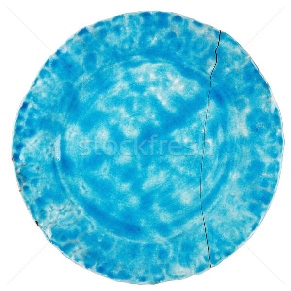 Broken blue ceramic plate   Stock photo © Taigi