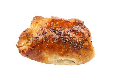 Home baked bun with poppy seeds Stock photo © Taigi
