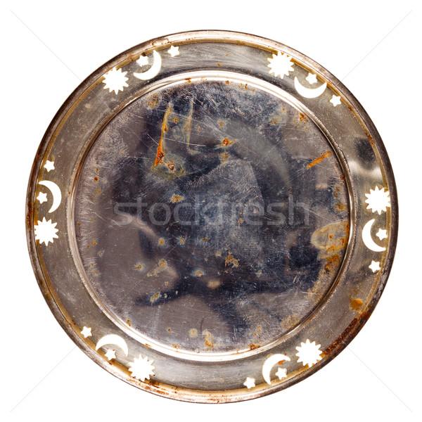 古い 金属 表 コースター 孤立した ストックフォト © Taigi