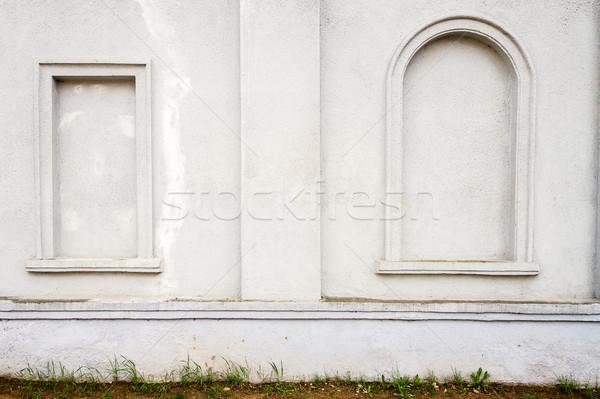 Dettaglio architettonico dettaglio vecchio bianco cemento muro Foto d'archivio © Taigi