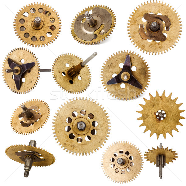 Collection of old clockwork parts Stock photo © Taigi