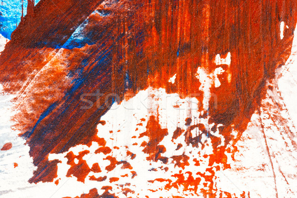 Abstract red and blue hand painted acrylic background Stock photo © Taigi