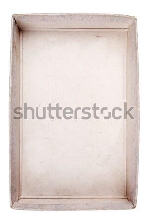 先頭 表示 カートン ボックス 古い 孤立した ストックフォト © Taigi