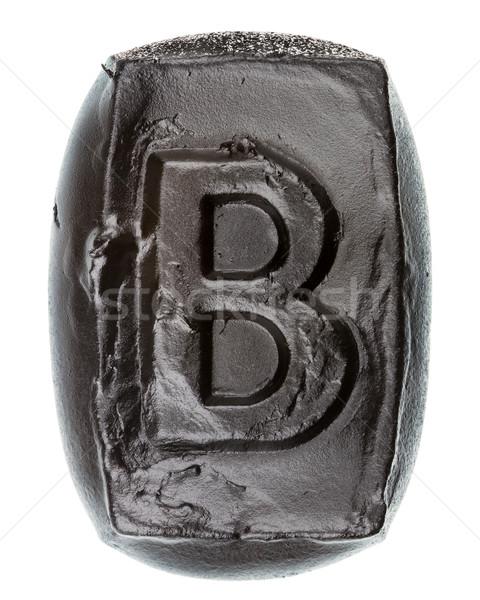 Kézzel készített kerámia levél festett fekete izolált Stock fotó © Taigi