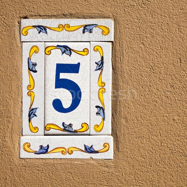 числа цемент стены плиточные текстуры аннотация Сток-фото © Taigi