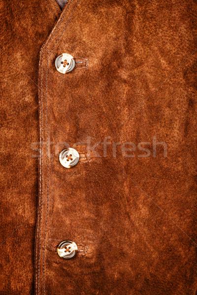 Fragment of suede vest Stock photo © Taigi