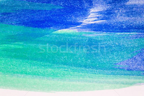 抽象的な 芸術 手描き 青 緑 水彩画 ストックフォト © Taigi