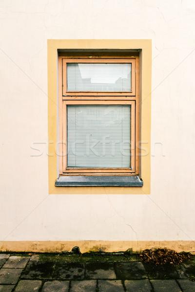 Foto stock: Parede · janela · amarelo · gesso · arquitetura · pormenor