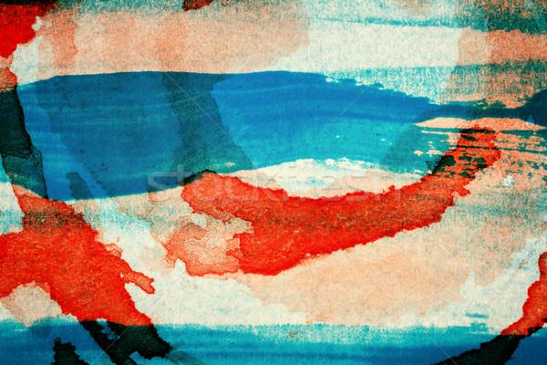аннотация искусств рисованной синий красный акриловый Сток-фото © Taigi